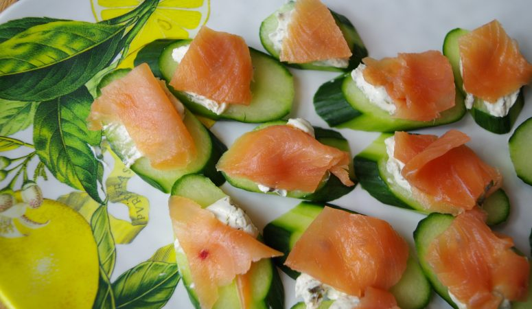 Salmon Cucumber Appetizers