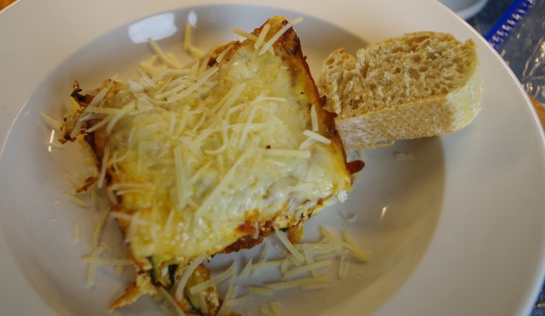 Half-Healthy Zucchini Lasagna