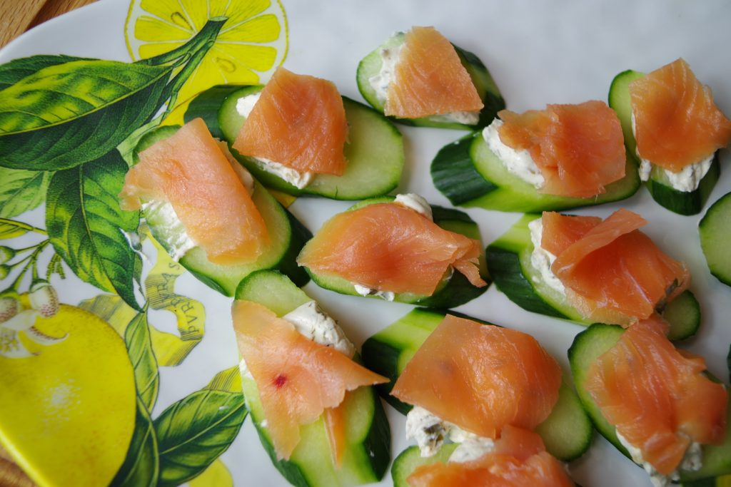 Smoked Salmon Cucumber Appetizers