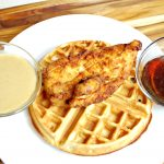Beer Buttermilk Marinated Fried Chicken and Waffles