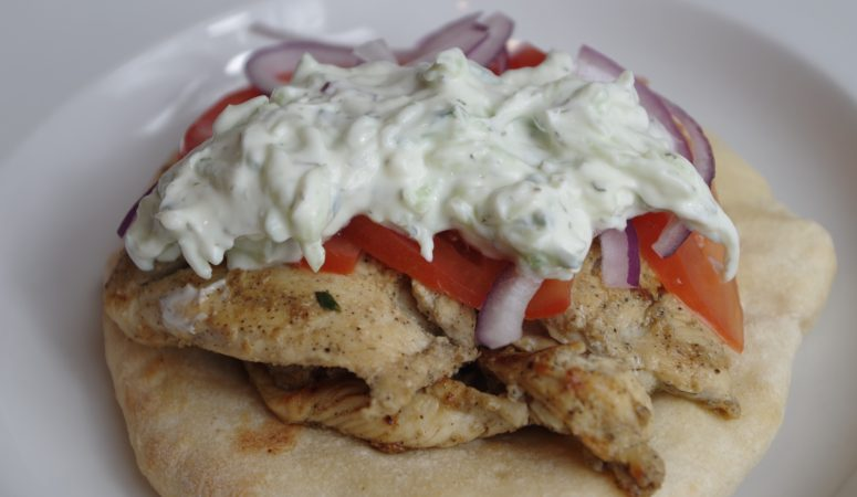 Greek Marinated Chicken Gyros