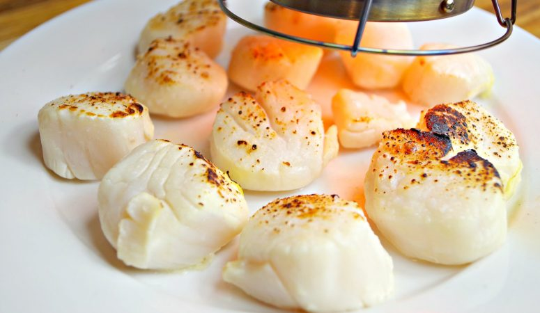 Preserved Lemon and Brown Butter Ghee Sous Vide Scallops