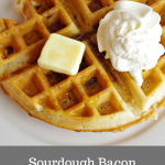 Sourdough Pearl Sugar Bacon Waffles