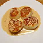 Seared Scallops With Sherry Cream Sauce