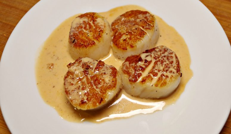 Seared Scallops With Sherry Cream Sauce