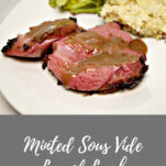 Sous vide minted leg of lamb