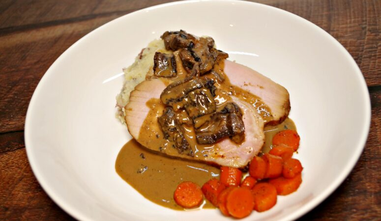 Sous Vide Beer and Mushroom Pork Roast