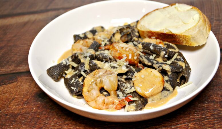 Scallop and Shrimp Scampi