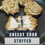 Creamy cheesy crab stuffed mushrooms