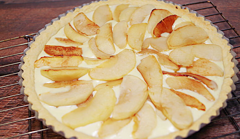 Goat Cheese, Apple & Honey Tart