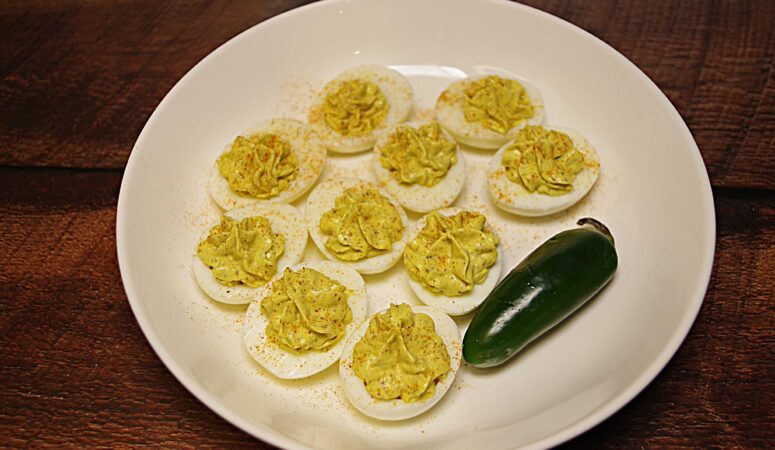 Instant PotSweet and Spicy Deviled Eggs