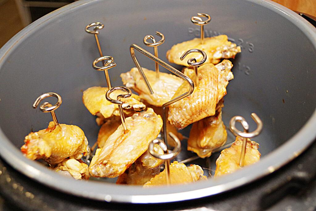 Instant Pot sweet spicy jerk chicken wings