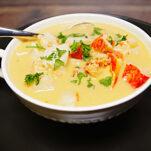 Lobster fondue soup