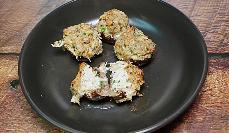 Cheesy Crab Stuffed Mushrooms