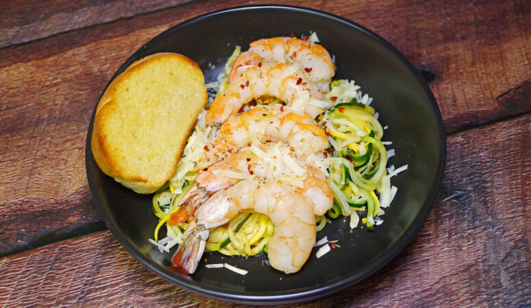 Shrimp and Zoodles Scampi